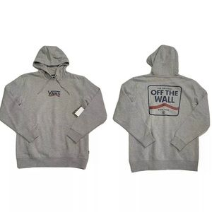 Vans Shaped Striped Pullover Hoodie Sweater